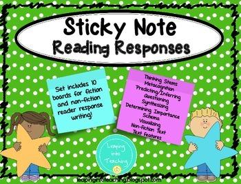 Sticky Note Reading Responses