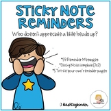Sticky Note Reminders