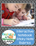 Sticky Note Rubric for Interactive Notebooks