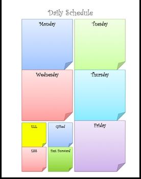 Sticky Note Schedule
