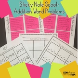 Sticky Note Scoot: Basic Addition to Ten Words Problems