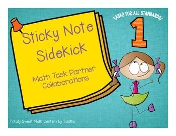 Sticky Note SideKick Gr. 1- Math Task Partner Collaborations
