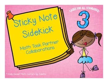 Sticky Note SideKick Gr. 3- Math Task Partner Collaborations