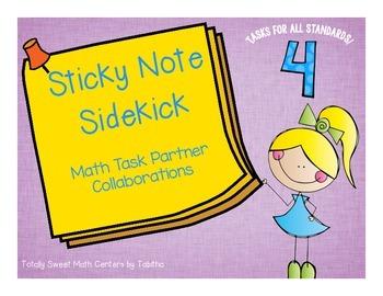 Sticky Note SideKick Gr. 4- Math Task Partner Collaborations