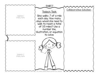 Sticky Note SideKick Gr. 5- Math Task Partner Collaborations