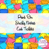 Sticky Note Speech Bubble Exit Tickets