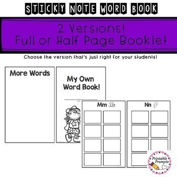Spelling Reference Booklet with Sticky Notes