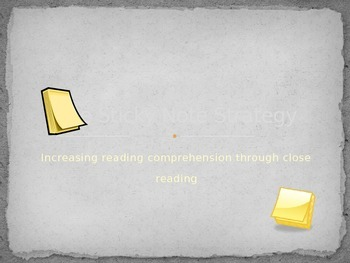 Sticky Note Strategy PowerPoint (close reading)