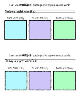 Sticky Note Strategy for Guided Reading