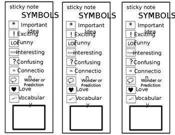 Sticky Note Symbols (EDITABLE)
