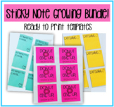 Sticky Note Template GROWING BUNDLE