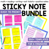 Sticky Note Templates Bundle