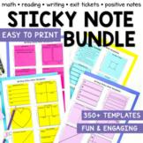 Sticky Note Templates Bundle