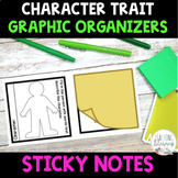 Sticky Note Templates - Character Traits - Graphic Organizers - Common Core