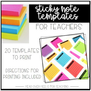 Sticky Note Templates For Teachers