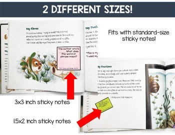 Sticky Note Text-Dependent Question Stems EDITABLE