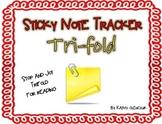 Sticky Note Tracker Trifold - Stop and Jot!