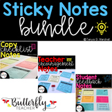 Sticky Notes Bundle: Student Feedback, Teacher Appreciation Notes, Work Requests