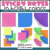 Sticky Notes Clip Art in Bright Colors