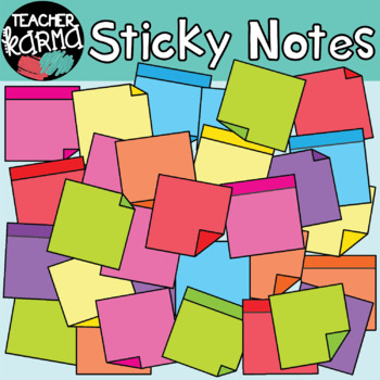 Sticky Notes Clipart (FREE today)