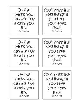 Sticky Notes- Dr. Seuss Edition