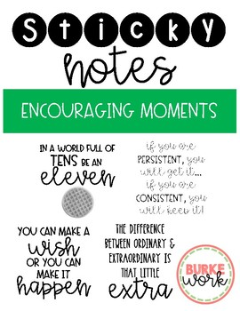 Sticky Notes: Encouragement Moments