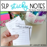 Speech Therapy Data Collection Sheets | SLP Sticky Notes
