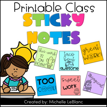 Sticky Notes Freebie