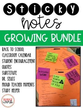 Sticky Notes: GROWING BUNDLE