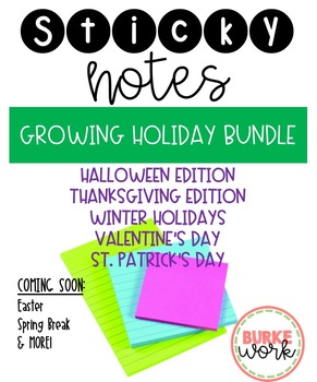 Sticky Notes: GROWING HOLIDAY BUNDLE
