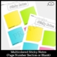 Sticky Notes Graphic Organizer