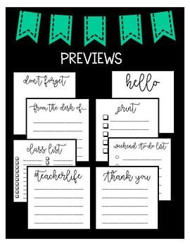 Sticky Notes Printables (30 Templates)