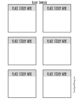 Sticky Note Template   Sticky Notes Template Positive Vibes By Tween Speech Therapy Tpt