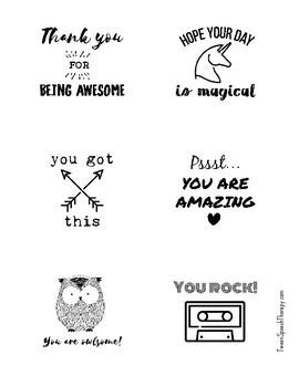 Sticky Notes Template: Positive Vibes