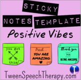 Sticky Notes Template: Positive Vibes