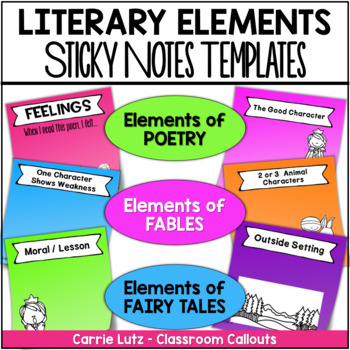 Sticky Notes Templates for Fairy Tales, Fables, and Poetry