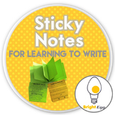 Sticky Notes for Learning to Write