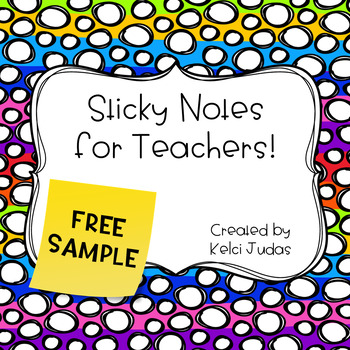Sticky Notes for Teacher Freebie!