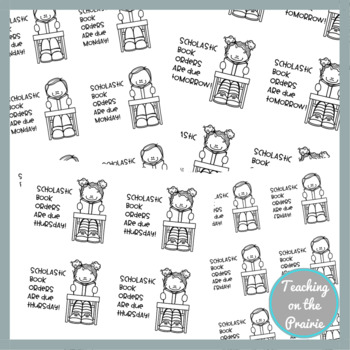 Sticky Notes for Classrooms! Book Order Version