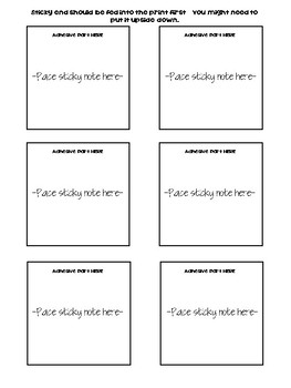 Sticky Notes for the Classroom