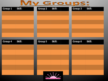 Sticky Notes grouping template