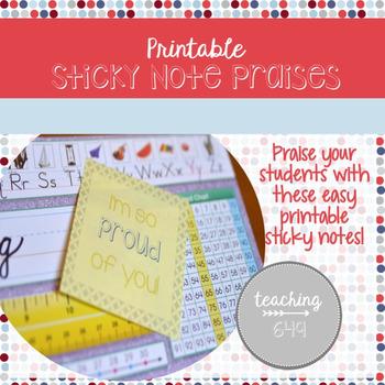 Sticky Praise Notes