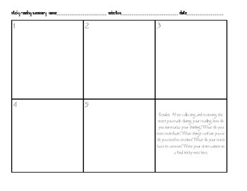 Sticky Reading Evaluation Grid