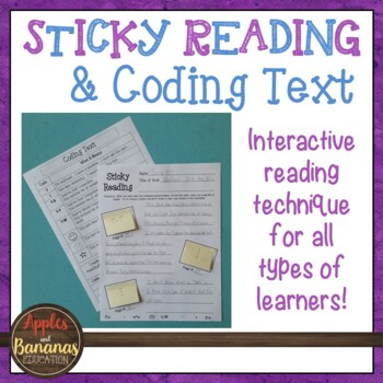Sticky Reading: Using Sticky Notes and Coding Text to Better Understand Reading