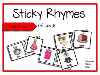 Sticky Rhymes (CVC words)