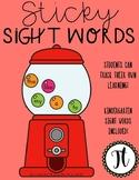 Sticky Sight Words - Kindergarten Sight Words - Student Tr