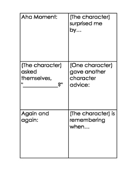 Sticky Starters:Mini Anchor Charts And Matching Cards For Fiction and Nonfiction