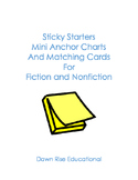 Sticky Starters:Mini Anchor Charts And Matching Cards For