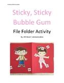 Sticky Sticky Bubble Gum File Folder Activity