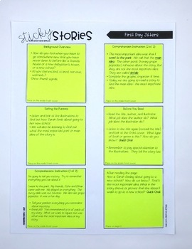 Interactive Read Aloud Lessons- Sticky Stories- Back to School Bundle